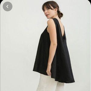 Elizabeth Suzann Harlow Tunic S Black Cotton